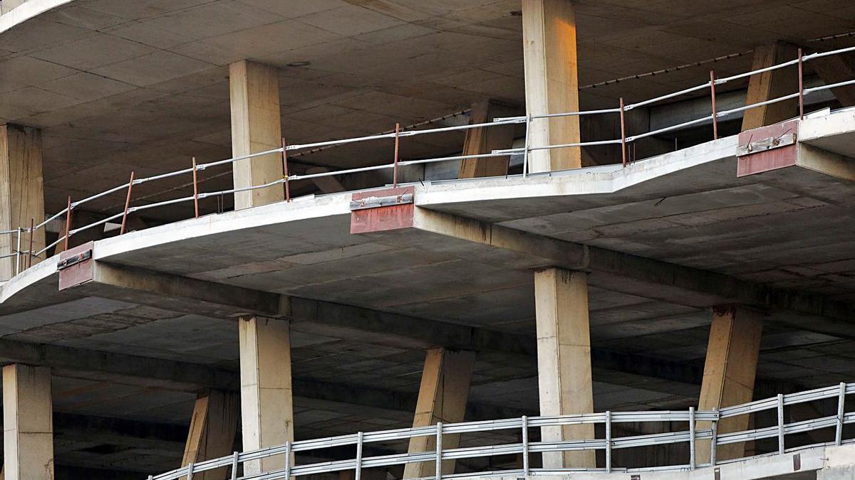 Las obras del nuevo Mestalla llevan paradas 12 años. | M.A.MONTESINOS