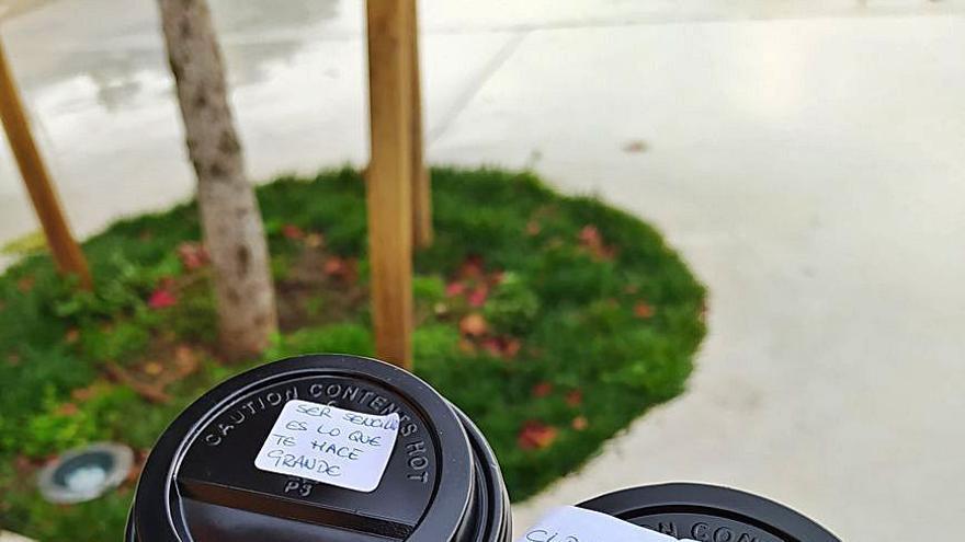 Optimismo para llevar en cafés de A Estrada