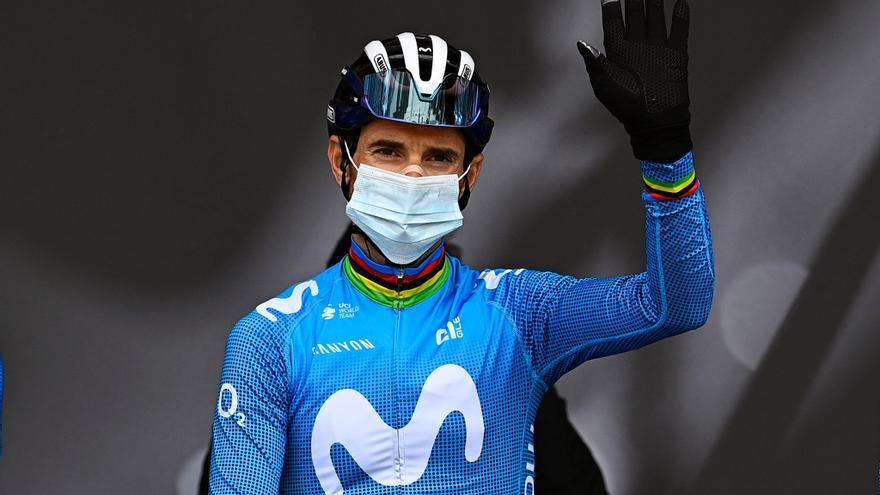 Alejandro Valverde, cuarto en la Lieja en su 41 cumpleaños