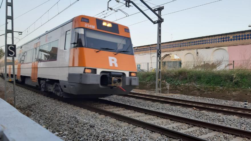 Interromputs els trens entre Girona i Caldes de Malavella pel descarrilament d'un vagó