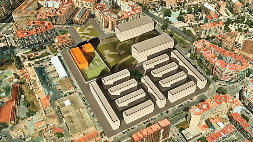 Zonas verdes, centros educativos y servicios públicos junto a la antigua Fe