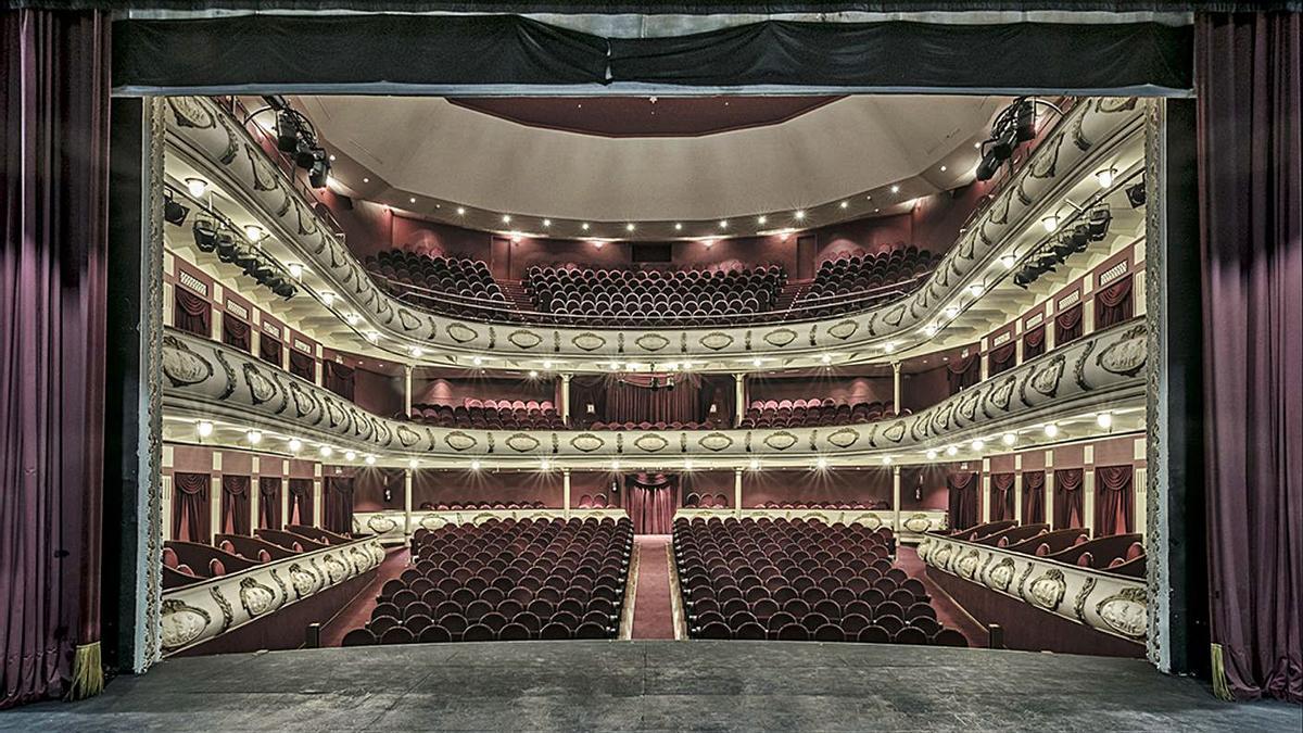 La foto del Teatro Chapí de Villena, realizada por Jesús Chamizo.
