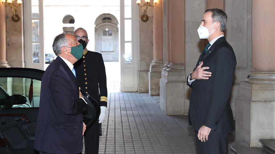 Encuentro del Rey con el presidente de la República de Portugal