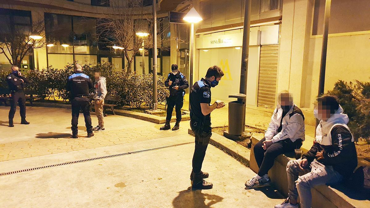 Actuación policial en Vigo por incumplimiento de las medidas sanitarias