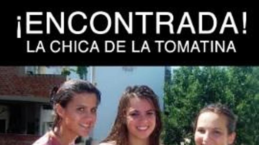 Fin del misterio: Eva Casado encuentra a su doble de la Tomatina