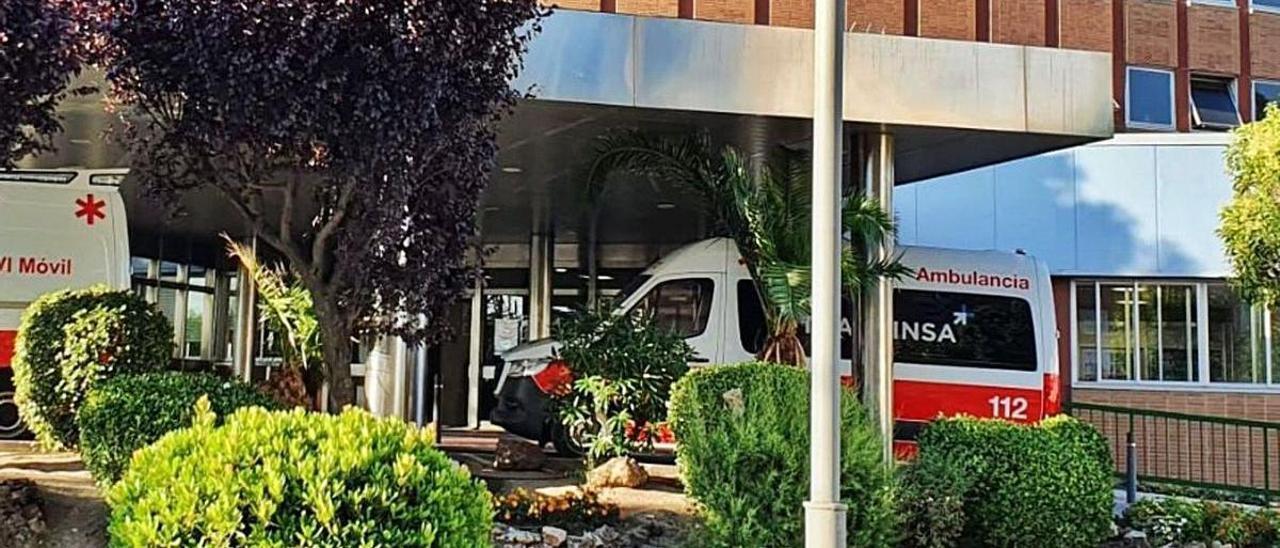 Una de las ambulancias asturianas que trasladaron a Madrid a la recién nacida, al equipo médico y el instrumental quirúrgico.   LNE