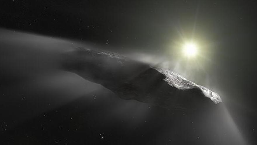 El asteroide Oumuamua, visto por primera vez en 2017.