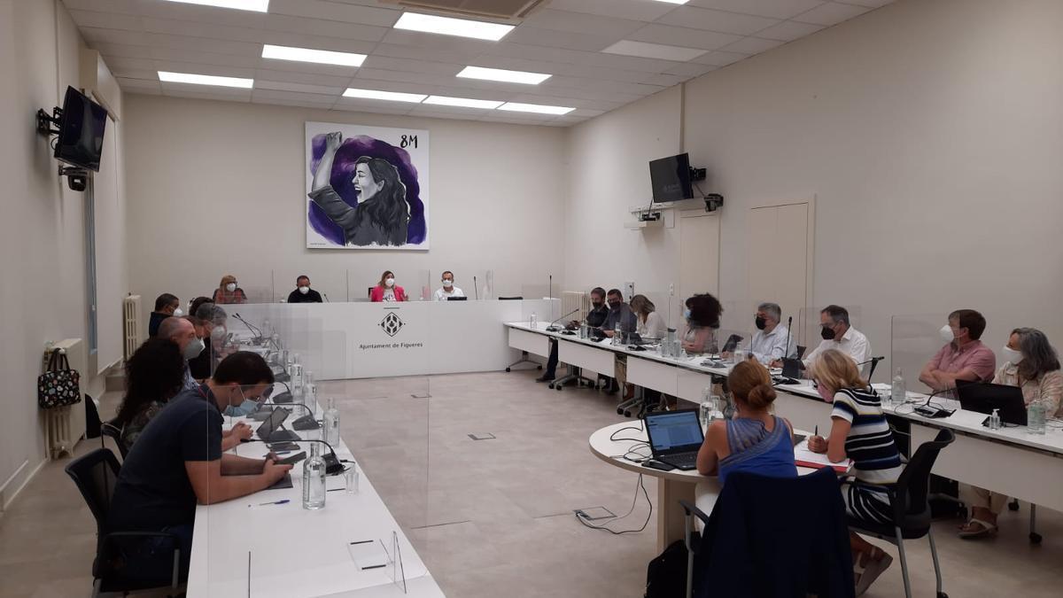Imatge de la sessió plenària presencial d'aquest dilluns.