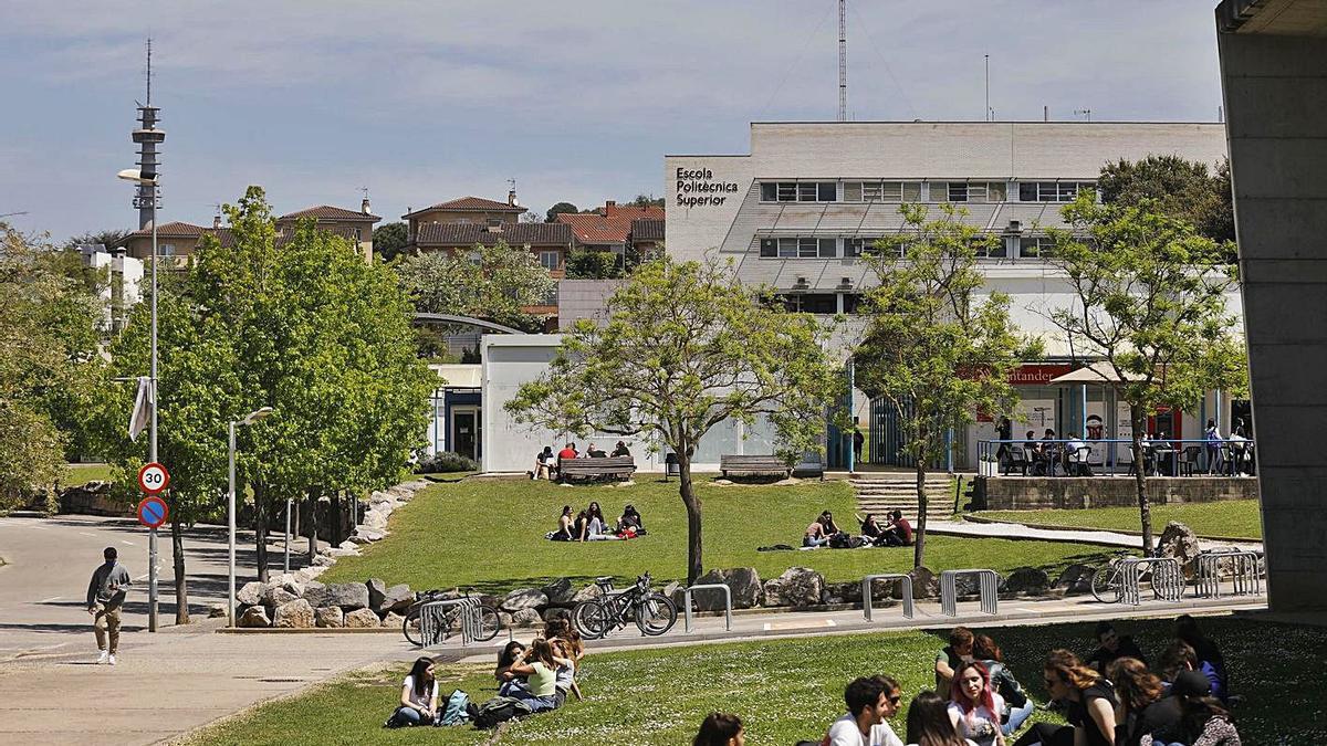 Una imatge del Campus de Montilivi de la Universitat de Girona