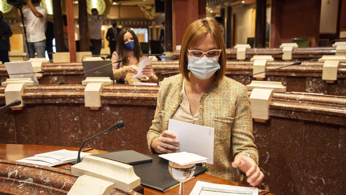 Isabel Franco, el pasado martes en la Asamblea.
