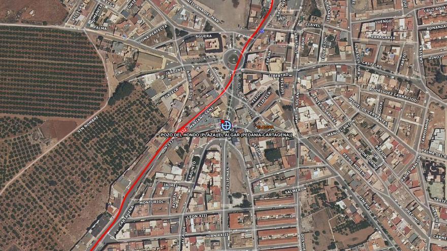 Herido un ciclista que ha chocado contra un coche en El Algar