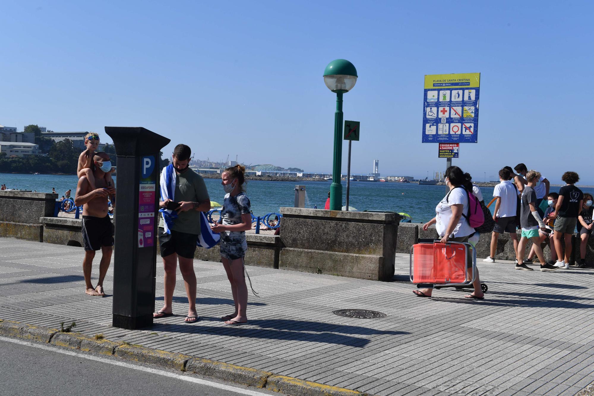 Santa Cristina, 'Praia sen fume'