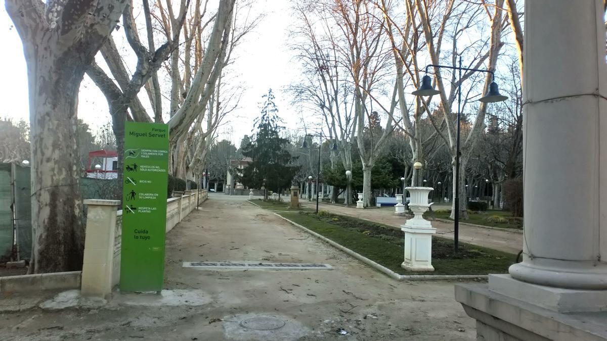 Parque Miguel Servet en Huesca