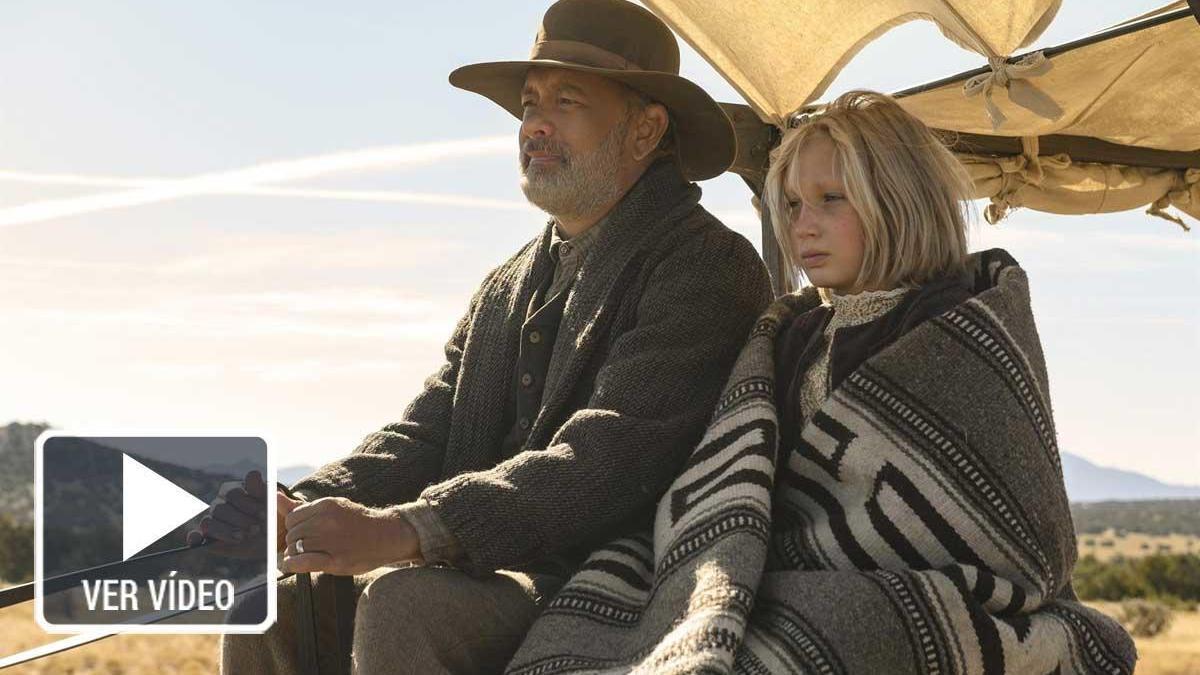 Tom Hanks protagoniza 'Noticias del gran mundo'.