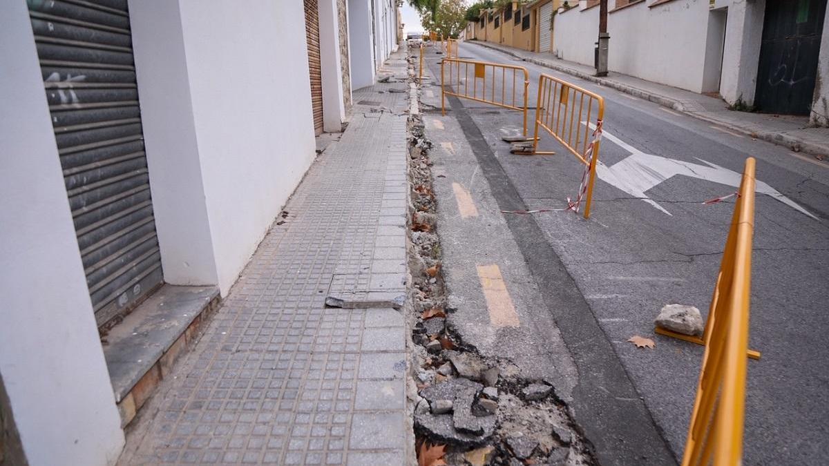 Imagen de las obras en el distrito Este de la capital.