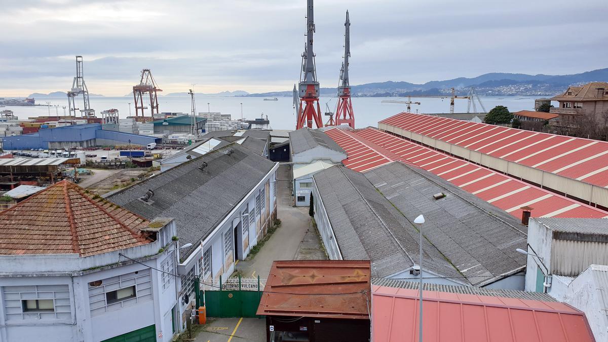 Vista de las instalaciones de Factorías Vulcano