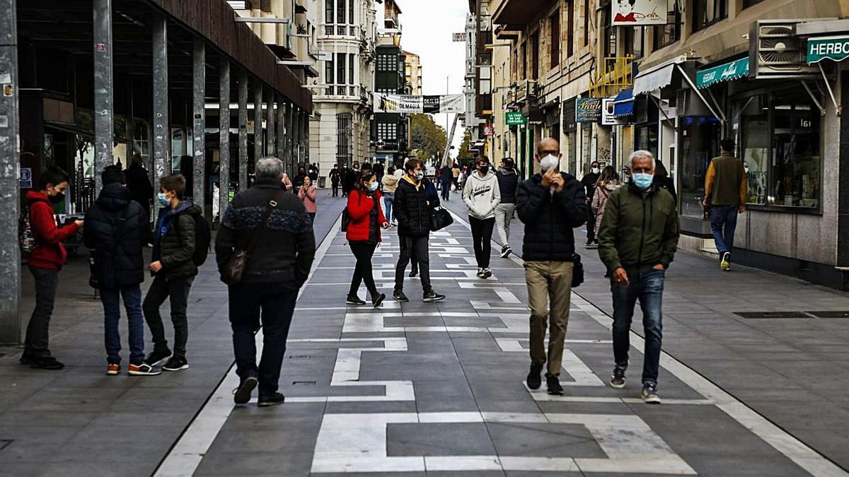 La calle Santa Clara de Zamora, en el mes de octubre. | Nico Rodríguez
