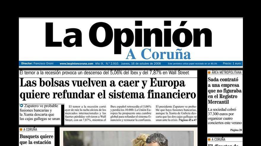 Cuando Melanie Griffith visitó A Coruña