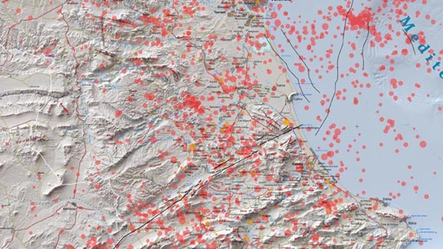 La Vega Baja, la Costera y la Vall d'Albaida son las zonas de mayor riesgo sísmico