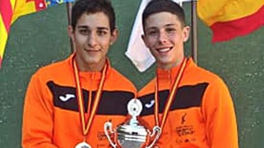 Adam y Ribera suman otro título nacional para el club Marquesat Frontenis