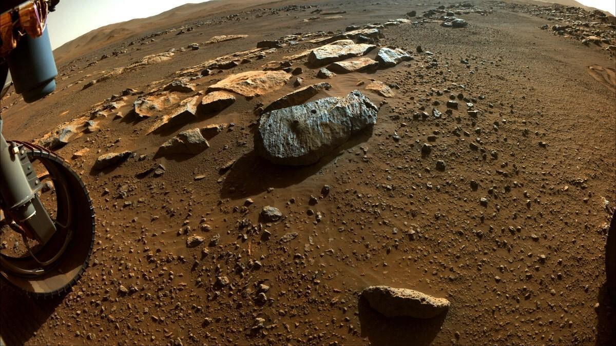 Primera roca de la que Perseverance ha tomado muestras