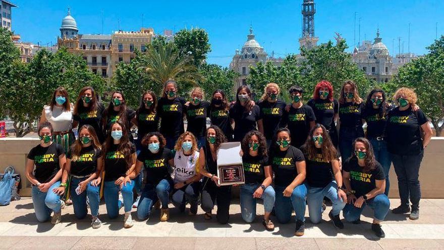 Homenaje al Rugby Turia en el Ayuntamiento de València