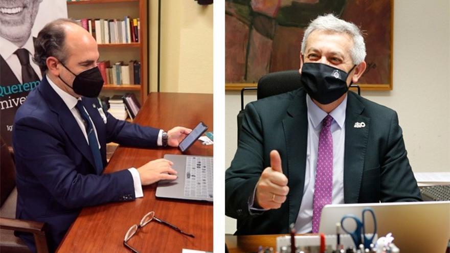 Elecciones online en la Universidad de Oviedo: Santiago García Granda e Ignacio Villaverde se disputan hoy el Rectorado