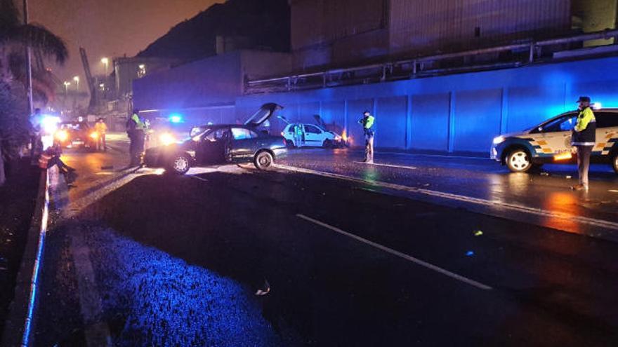 Accidente en la carretera general de San Andrés