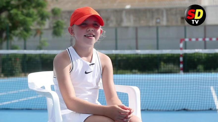 Sofía Kova, el inicio del largo camino para ser tenista