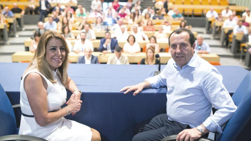 Susana Díaz y el PSOE de Málaga apoyarán a Pedro Sánchez en el congreso federal de 2021