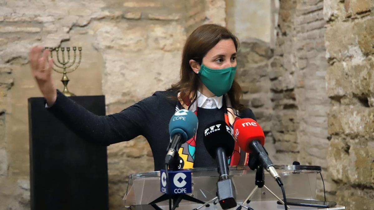 Cristina Casanueva, este jueves en la Sinagoga