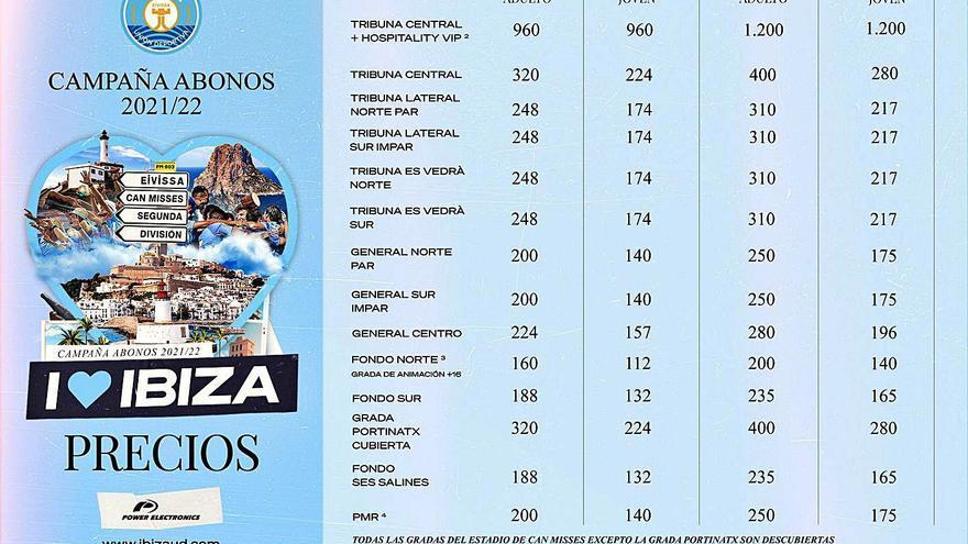 Los abonos para ver a la UD Ibiza en Segunda cuestan de 140 a 400 euros