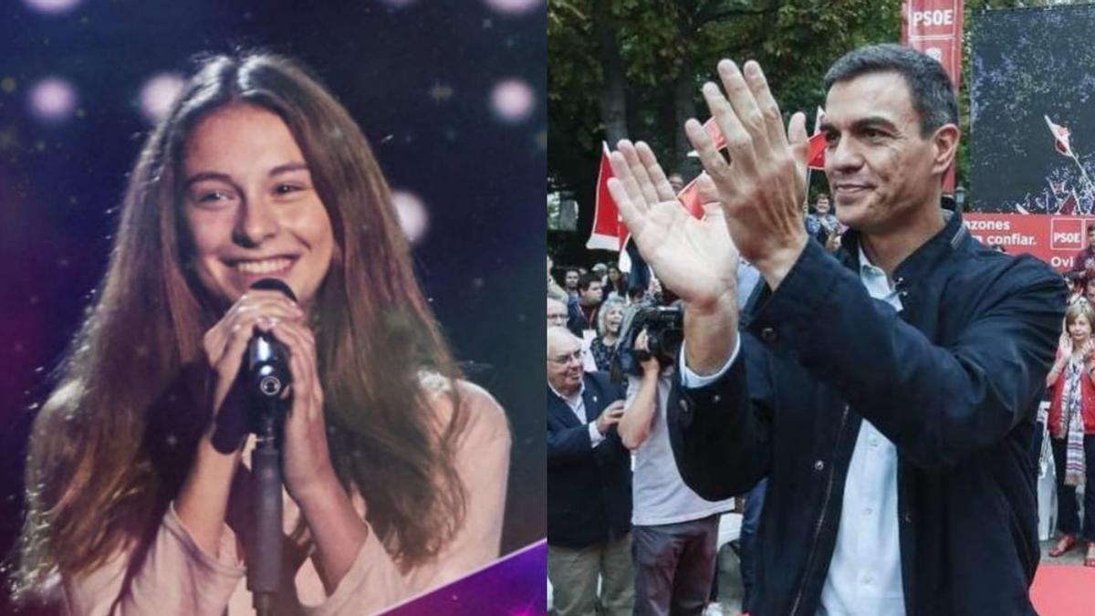 Pedro Sánchez compartió en sus redes la actuación de Carmen Puente