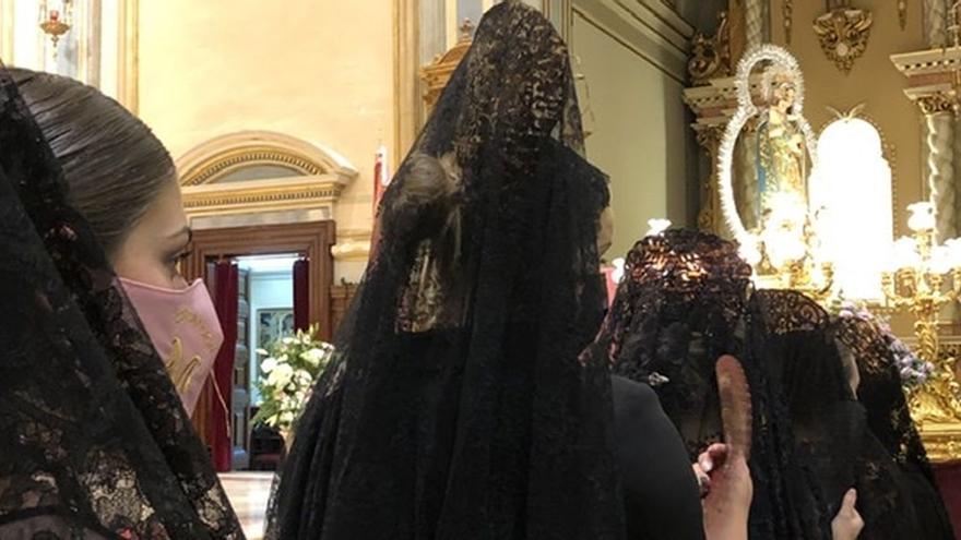 La lluvia obliga a suspender la procesión del Roser de Almassora