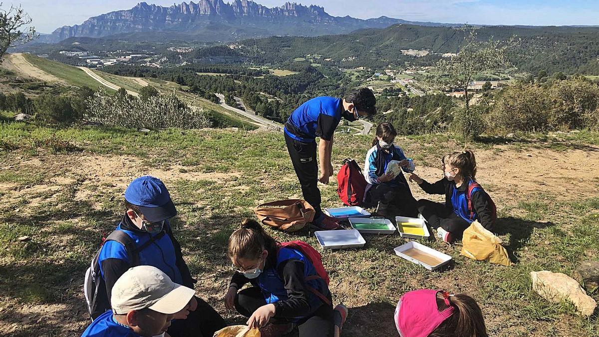 Activitats d'un grup escolar al Parc del Secà, a tocar del polígon de Bufalvent | ARXIU PARTICULAR