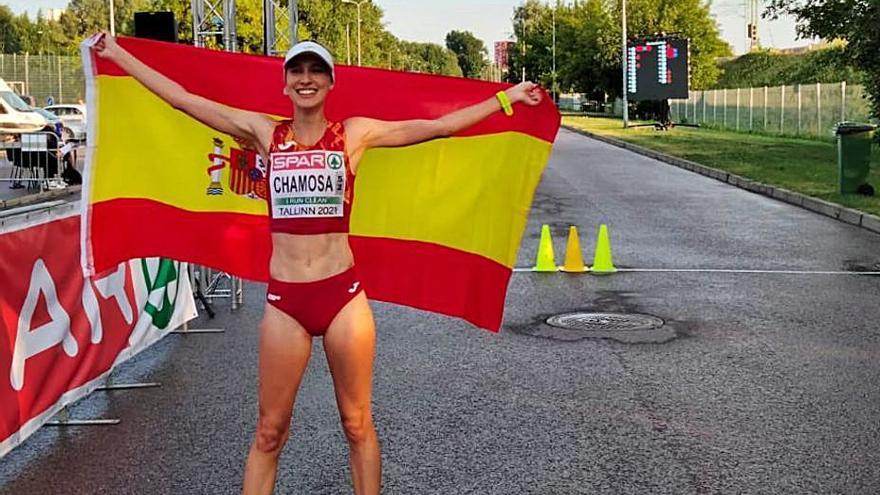 Antía Chamosa, bronce en el Europeo sub 23