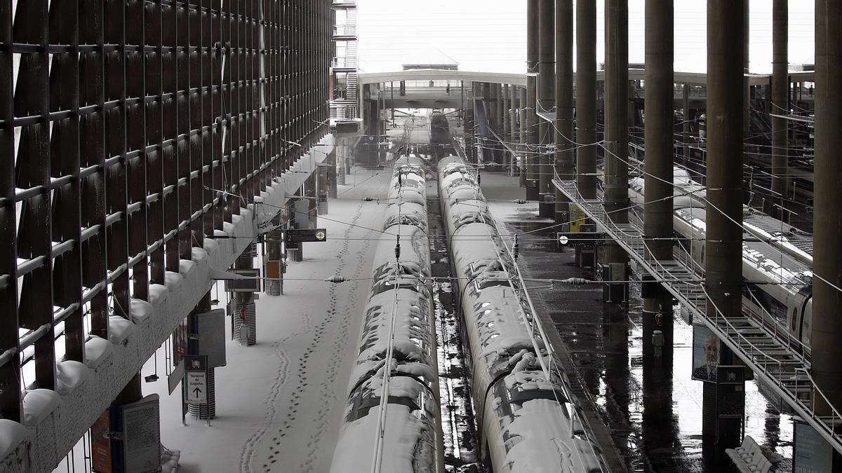 El servicio ferroviario se retoma tras lo peor de Filomena.