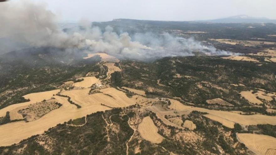 El incendio forestal de Graus ya está controlado tras arrasar 230 hectáreas