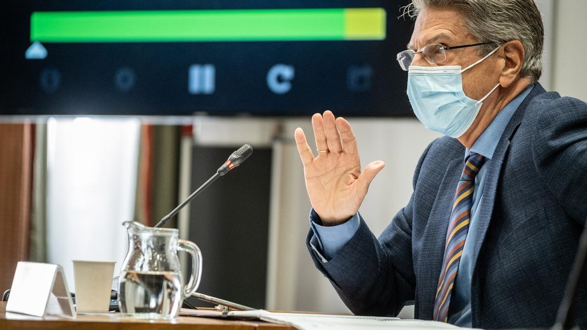 El portavoz del Gobierno de Canarias, Julio Pérez