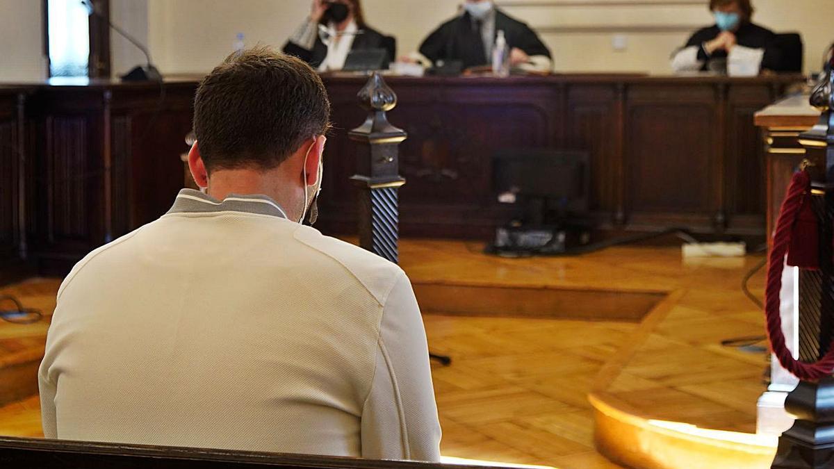 El condenado por la Audiencia durante el juicio.
