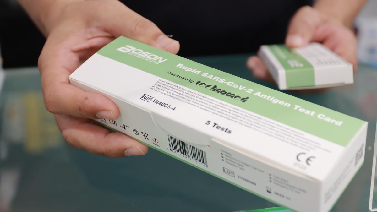 Imagen del test rápido que se venderán en las farmacias por un precio que oscilará en los siete euros.