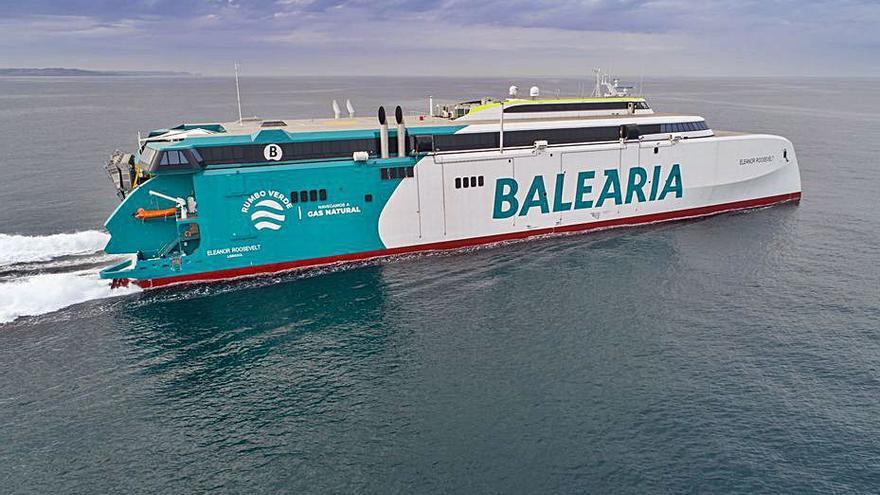 Baleària prueba el 'Eleanor Roosevelt'