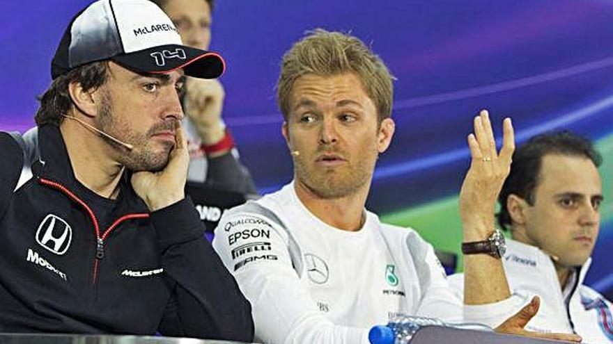 Rosberg quiere a Alonso junto a Hamilton en Mercedes