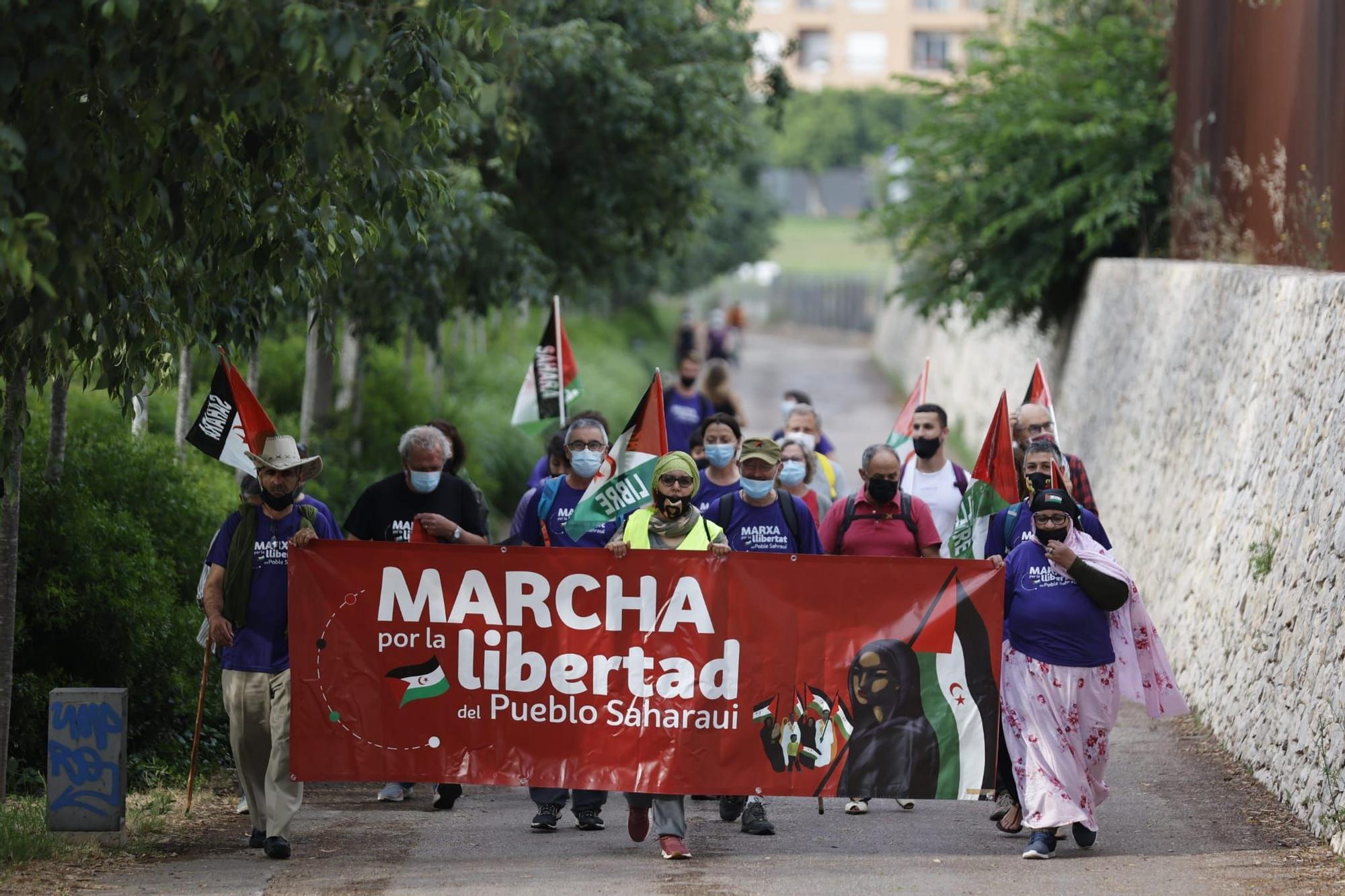 Sale de València la marcha que reclama la libertad de pueblo saharaui