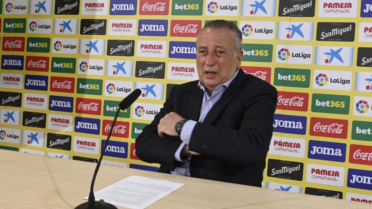 Rueda de prensa de Fernando Roig tras entrar en la final de Europa League.