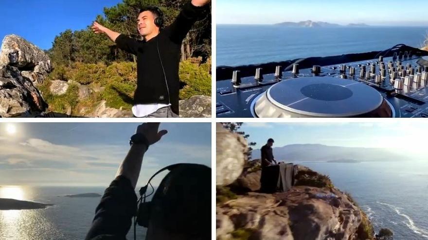 La Ría de Vigo da la vuelta al mundo gracias este videoclip que un DJ grabó desde Monteferro