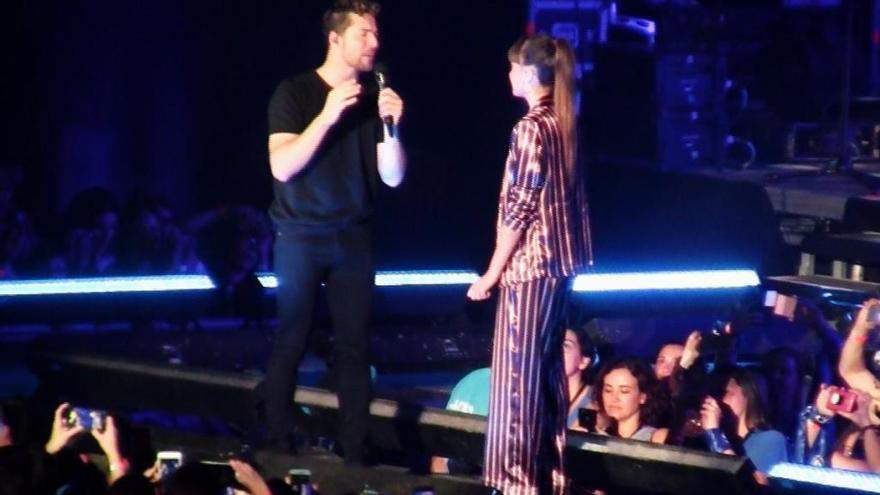 Aitana comparte escenario con David Bisbal