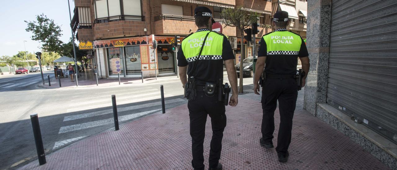 La Policía Local de San Vicente
