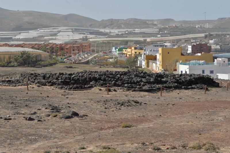 Gáldar acicala la Tumba del Rey: Yacimiento de La Guancha