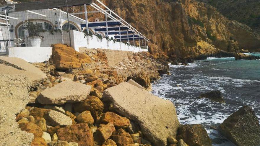 El alcalde de Xàbia quiere recuperar la playa desaparecida